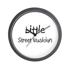 Little Street Musician Wall Clock