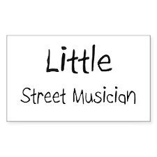 Little Street Musician Rectangle Decal
