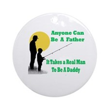 Real Man Daddy Ornament (Round)