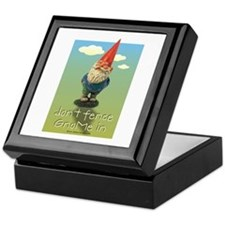 Don't Fence GnoMe In Keepsake Box
