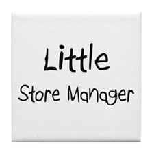 Little Store Manager Tile Coaster