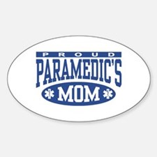 Proud Paramedic's Mom Oval Decal