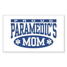 Proud Paramedic's Mom Rectangle Decal