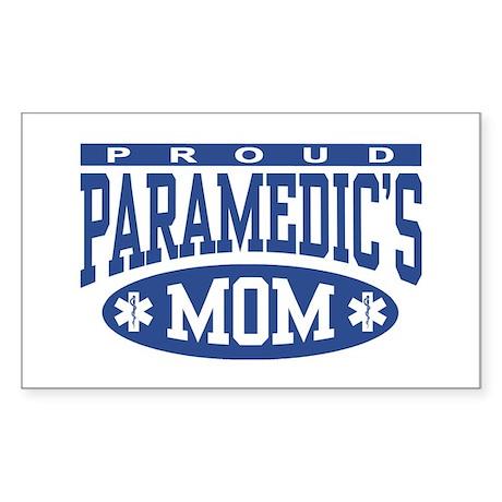 Proud Paramedic's Mom Rectangle Sticker