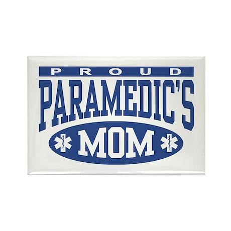 Proud Paramedic's Mom Rectangle Magnet