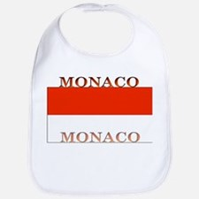 Monaco Monegasque Flag Bib