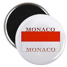 Monaco Monegasque Flag Magnet