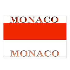 Monaco Monegasque Flag Postcards (Package of 8)