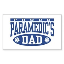 Proud Paramedic's Dad Rectangle Decal