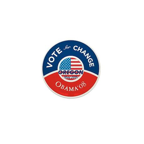 Obama Vote for Change OREGON Mini Button