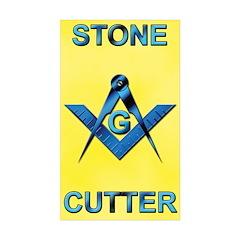 Stone Cutter Rectangle Sticker 50 pk)