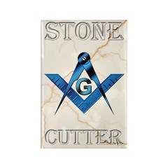 Stone Cutter Rectangle Magnet