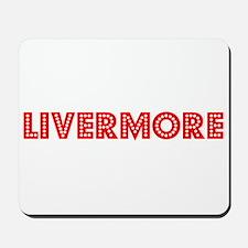 Retro Livermore (Red) Mousepad