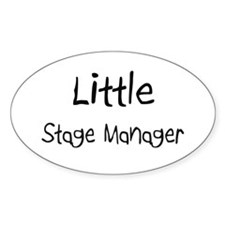 Little Stage Manager Oval Decal