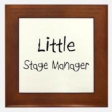 Little Stage Manager Framed Tile