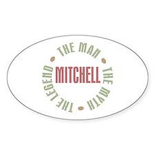 Mitchell Man Myth Legend Oval Decal