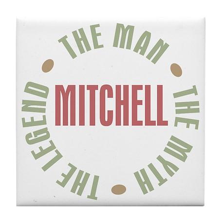 Mitchell Man Myth Legend Tile Coaster