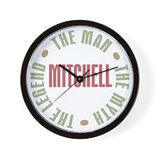 Mitchell Man Myth Legend Wall Clock