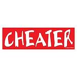 CHEATER Sticker for Prank or Revenge Sticker (Bump