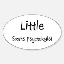 Little Sports Psychologist Oval Decal