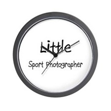 Little Sport Photographer Wall Clock
