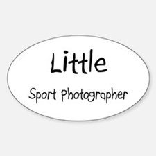 Little Sport Photographer Oval Decal