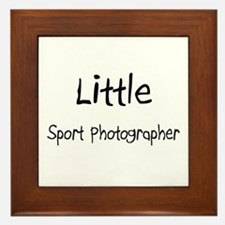 Little Sport Photographer Framed Tile