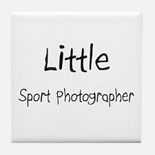 Little Sport Photographer Tile Coaster