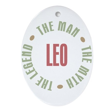 Leo Man Myth Legend Oval Ornament