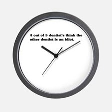 4 out 5 dentists Wall Clock