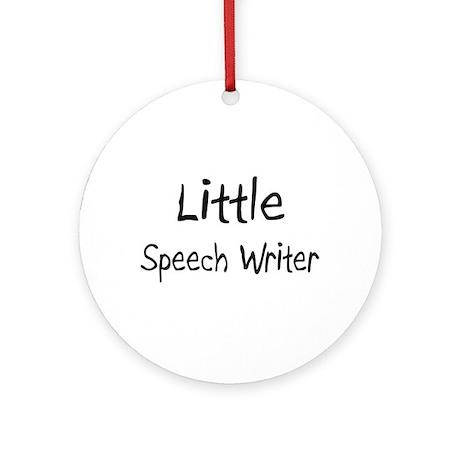 Little Speech Writer Ornament (Round)