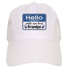 Hello Loved Grandpa Baseball Cap