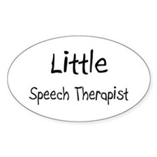 Little Speech Therapist Oval Decal