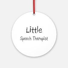 Little Speech Therapist Ornament (Round)