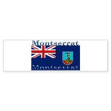 Montserrat Bumper Car Sticker