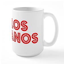 Retro Los Banos (Red) Mug