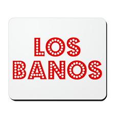 Retro Los Banos (Red) Mousepad