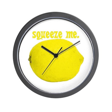 lemon squeeze Wall Clock