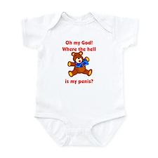 Scared Teddy Bear Infant Bodysuit