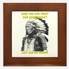 Trust government Framed Tile