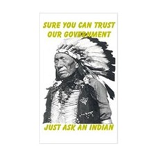 Trust government Rectangle Decal
