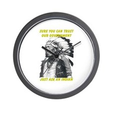 Trust government Wall Clock