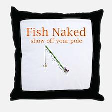Fish Naked Throw Pillow