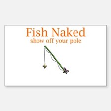 Fish Naked Rectangle Decal