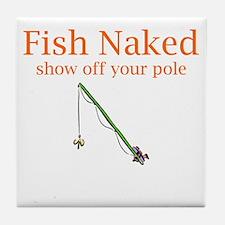 Fish Naked Tile Coaster