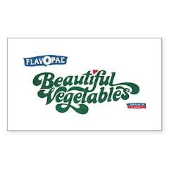 Beautiful Vegetables Rectangle Sticker 10 pk)