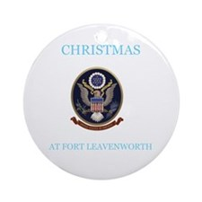 christmas at fort leavenworth Ornament (Round)