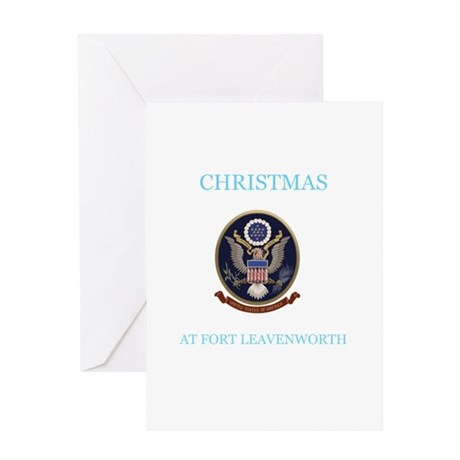 christmas at fort leavenworth Greeting Card