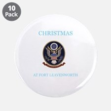 """christmas at fort leavenworth 3.5"""" Button (10 pack"""
