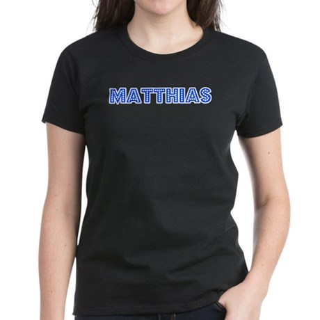 Retro Matthias (Blue) Women's Dark T-Shirt